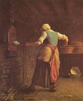 Женщина, пекущая хлеб (Жан-Франсуа Милле)